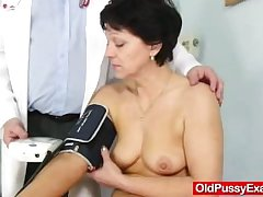 Lanose housewife Eva visits gyno medic fuck opening certificate