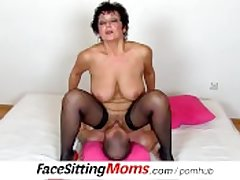 Big natural tits lady Greta all over a chum czech facesitting