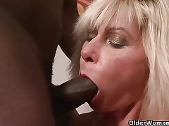 Mummy gets coal-black cock wide their way nuisance