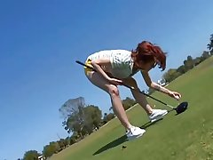 Mature Cougar Fucks Young Golfer