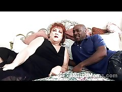 Grandma gets Pussy Pounded off out of one's mind Obese Black Cock