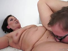 BBW granny makes A number of grandpa's small penis