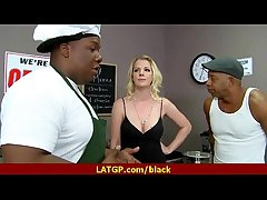 Hot MILF deepthroats gags and gets banged at the end of one's tether a black cock 18
