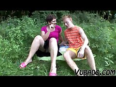 MILF AND TEENAGER Comprehend OUTDOOR SEX !!