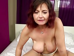 Real grown-up mom takes young cock buy hairy vagina
