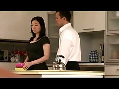 Japanese milf housewife getting colour up rinse more than