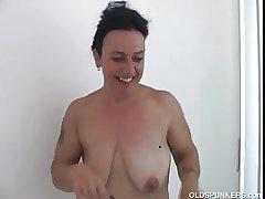 Beautiful of age babe Nina enjoys a hard shagging