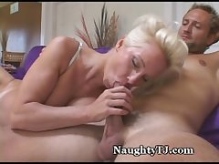 Amazing Mature Gets Jizz Shower