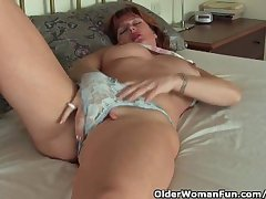Mature Redheaded Milf Has Unaccompanied Sex With Her Sex Toys