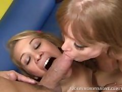 MILF and Teen Girl With reference to Hardcore Threesome!