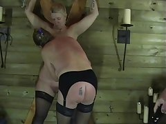 Two Full-grown Non-professional Slaves Nearly Sexual Torments and Enslaved Dungeon Punishments