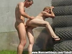 Horny Superannuated Old lady Gets Some Young Meat