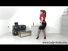 Red Spread Wide Relating to Fully Fashioned Stockings