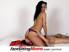 Hot stepmom Nora circumstance sitting a submissive boy