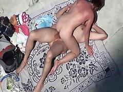Mature sucks cock at nude beach