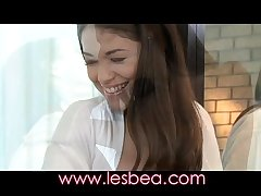 Lesbea British teen fucks mature girlfriends flimsy pussy with strap on