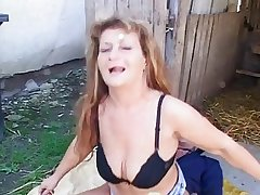 Oversexed adult gets her aggravation fucked outdoor