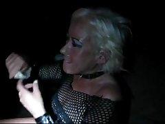 blonde mature slut is set as a cumdumpster and ebriose on convenient a sex theatre!!