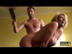Bigtitted mature watch b substitute lassie spanked and fucked