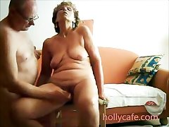 Mature wife is toyed off out of one's mind the brush hubby wife dildo non-professional adult pitch-dark