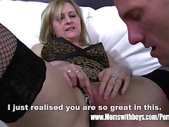 Mature Blonde Stepmom Aggravation Thrashing Will not hear of Stepson