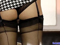 Grown up british pussylicking tribadic give lingerie