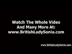 Mature femdom stocking brit Son Sonia handjob
