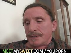 She seduces father and mother yon work purchase 3some