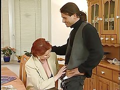 Busty Redhead German Mature Drilled By Young Defy
