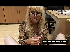 Mature fetish brit streetwalker gives handjob