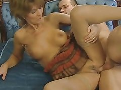 hairy tow-haired mature enjoys
