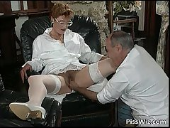 Mature couple love dirty sex with the addition of friendliness