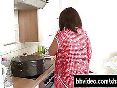 Busty german BBW fucks a unchanging flannel