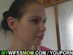 Wife leaves and she fucks their way pledged son-in-law