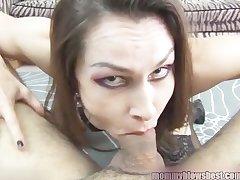Newbie MILF Nora Noir gives saucy porn impenetrable depths throat