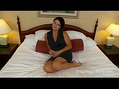 Brunette milf does say no to first adult video