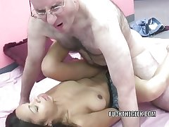Slutty MILF Dolly takes some dick in will not hear of Latina twat
