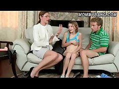 Sexy milf Samantha Ryan cum on glasses in this 3some sham