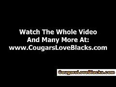 Watch interracial mature slattern gets cumshot