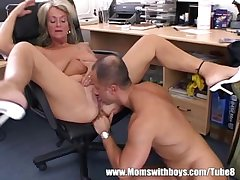 Matured Blonde Executive Fucks The brush Buff Applicant