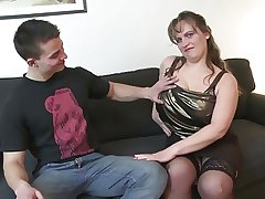Young people fucks busty full-grown matriarch