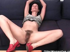 Older women soaking their cotton panties in all directions pussy juice