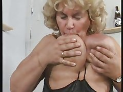 German BBW granny masturbates mortal physically across