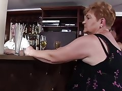 horny grannies fuck at one's disposal the bar