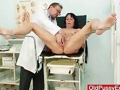 Hot domina foetus performs vituperative masturbation