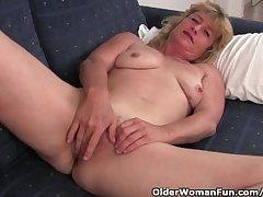 Fuckable grandma spreads say no to grey pussy wide