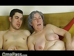 OmaPass Youngsters fuck very old granny with will not hear of girlfriend