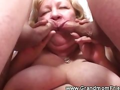 Granny loves her one cock in her