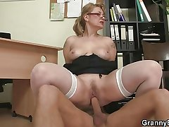 Office hooker enjoys riding his save for