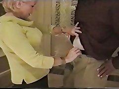 granny sucks dark-skinned load of shit